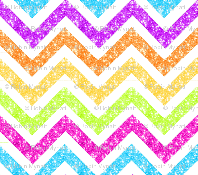 NEW! LG Sparkle chevron glitter stripes MULTI colors watercolor