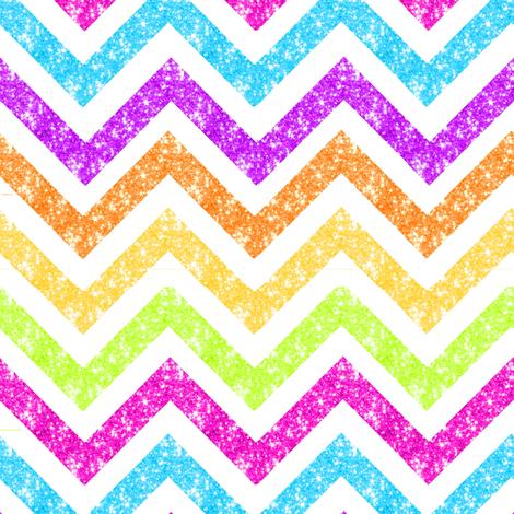 NEW! Med Sparkle chevron Glitter stripes fabric by parisbebe on Spoonflower - custom fabric