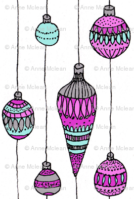 Pink and blue baubles