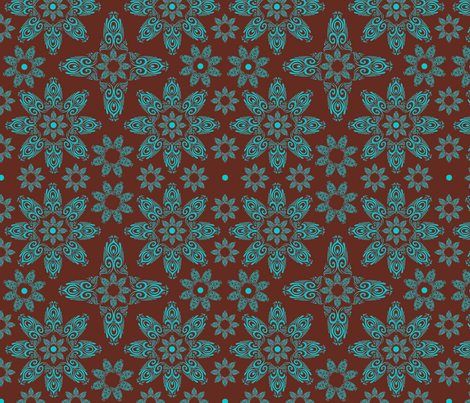 BLUE_SPIRALS-2-blue-choclate fabric by iesza-jessica on Spoonflower - custom fabric