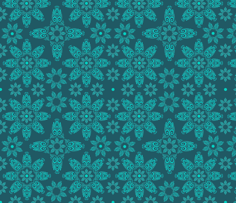 BLUE_SPIRALS-2-teal fabric by iesza-jessica on Spoonflower - custom fabric