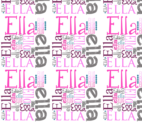 ella_name_blanket_1 fabric by sprockit on Spoonflower - custom fabric