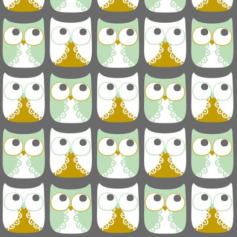 Snow Owls fabric by natitys on Spoonflower - custom fabric