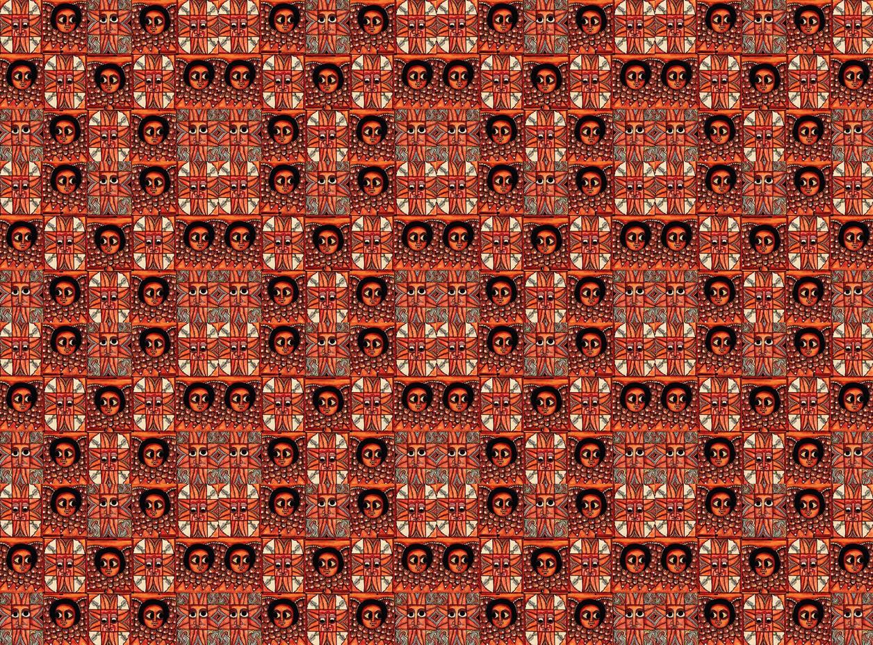 Ethiopian Mosaic wallpaper - wanganegresse - Spoonflower