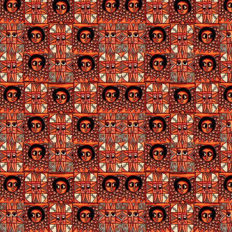 Ethiopian Mosaic fabric by wanganegresse on Spoonflower - custom fabric