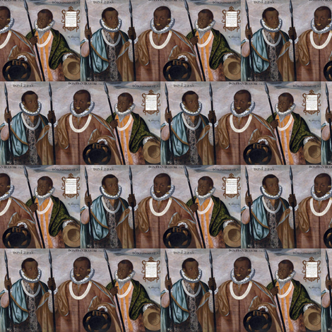 The Three Mulattoes of Esmereldas fabric by wanganegresse on Spoonflower - custom fabric