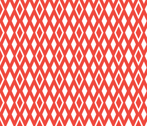 coral diamonds fabric by carabaradesigns on Spoonflower - custom fabric
