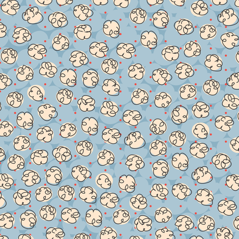 Popcorn fabric by melhales on Spoonflower - custom fabric