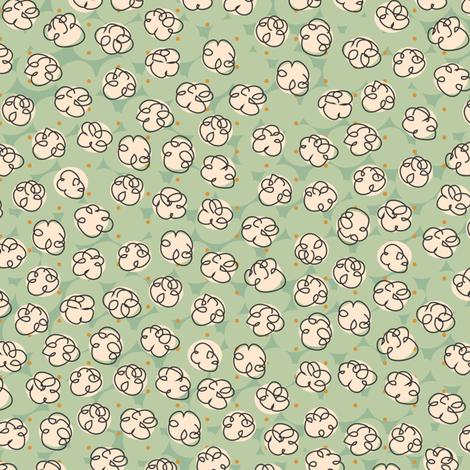 Popcorn-green fabric by melhales on Spoonflower - custom fabric