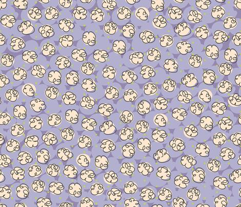 Popcorn-purple fabric by melhales on Spoonflower - custom fabric