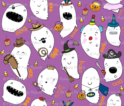 Ghosts a-float!