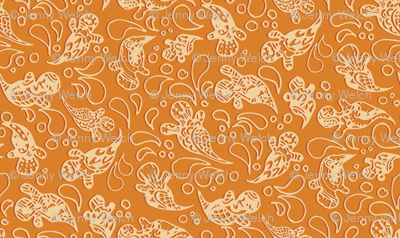 Paisley Ghosts - Orange