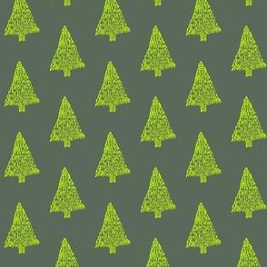 Yellow Christmas Trees