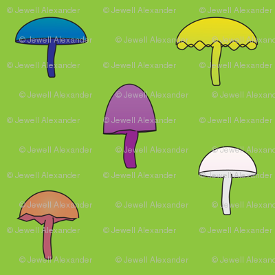 Colorful Mushrooms