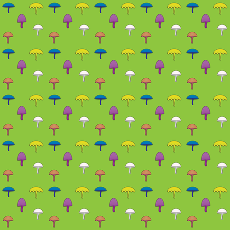 Colorful Mushrooms fabric by jfibercrafts on Spoonflower - custom fabric