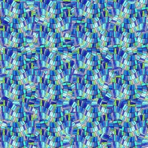 Chiclet Weave- blue