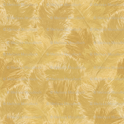 Ostrich Feather - large yellow