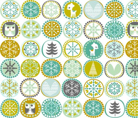 Winter Friends fabric by natitys on Spoonflower - custom fabric