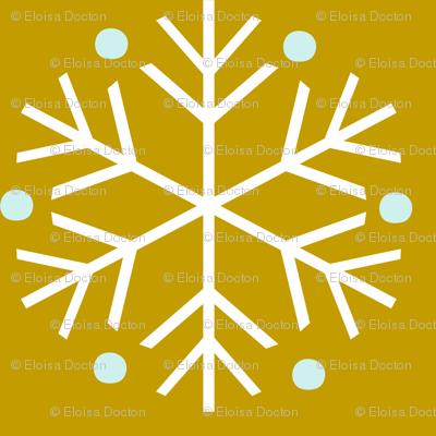 Snowflakes Mustard