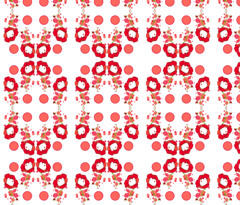 Round of poppies fabric by fanny-bonenfant on Spoonflower - custom fabric