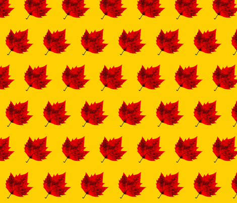 Fall Red and Gold fabric by shanstar on Spoonflower - custom fabric