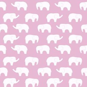 elephant pink white