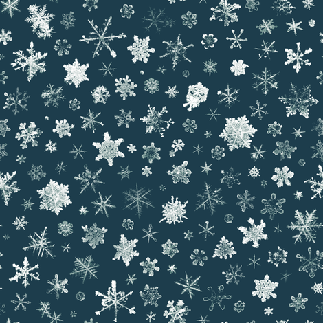 Retro Skiing Snowflakes - large fabric by weavingmajor on Spoonflower - custom fabric