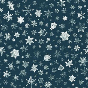 Retro Skiing Snowflakes - large