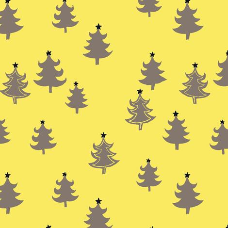 CHRISTMAS_TREE_YLLW_GREY fabric by lpt-workshop on Spoonflower - custom fabric