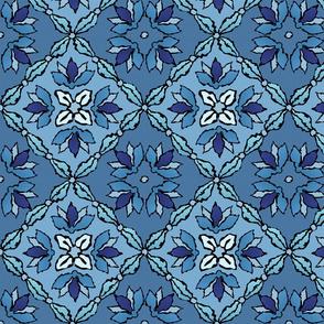 Like a rug in blue
