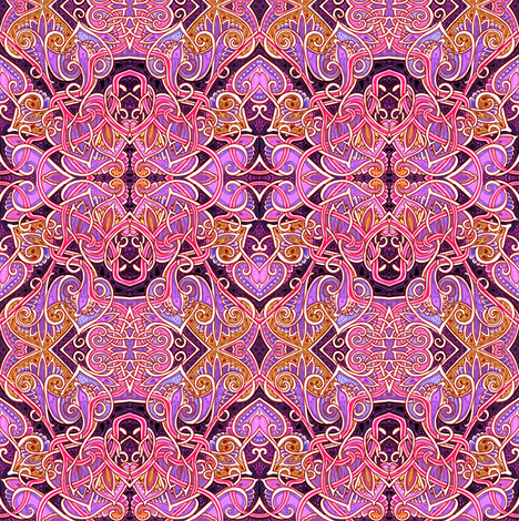 Beating of a Dark Heart fabric by edsel2084 on Spoonflower - custom fabric