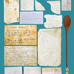 Dot's Old Recipes Dish Towel