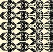 African Woodcut Stripes 1
