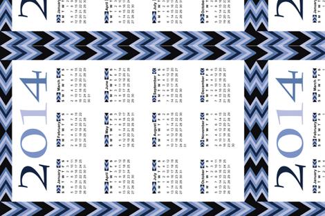 Lakeside-Blues-Tea-Towel-2014 fabric by hmooreart on Spoonflower - custom fabric