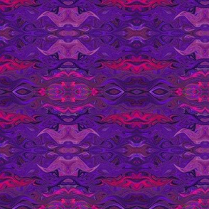 FISHES WAVES PURPLE GEOMETRIC