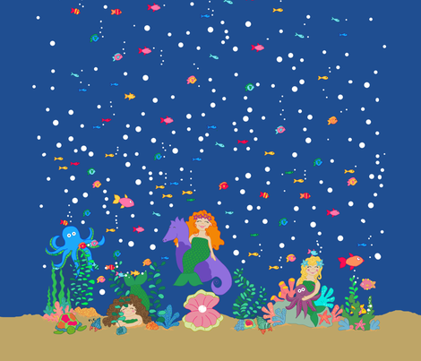 Under the Sea Shower Curtain fabric by beebumble on Spoonflower - custom fabric