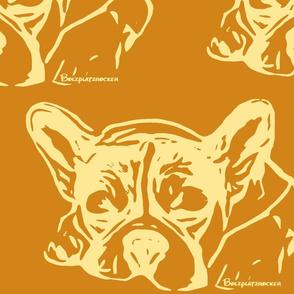 Bulldog Nele Bolzplatzrocker caramel braun