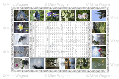 2015 Full-Moon Teatowel Photo Calendar - white - with full moon dates - CA time