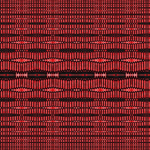 Red Black Shapes Pattern
