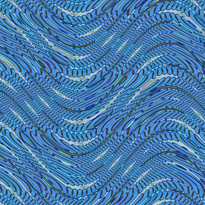 Blue grey wave pattern