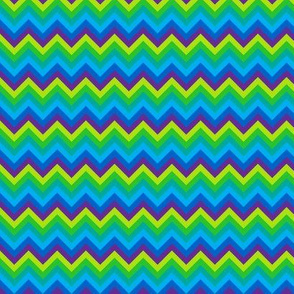(B3)  - Chevron in cool colors