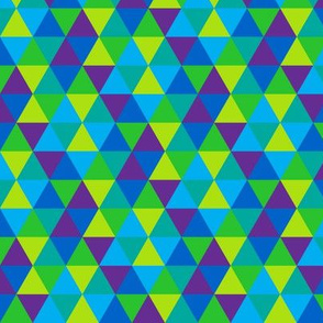 (C3) - Triangles in cool colors