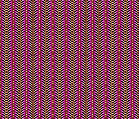 featherstripe magenta orchid  fabric by glimmericks on Spoonflower - custom fabric