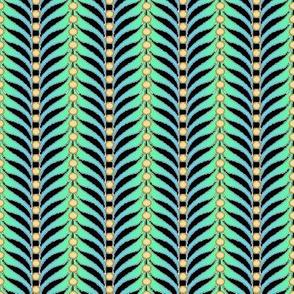 featherstripe tan green blue