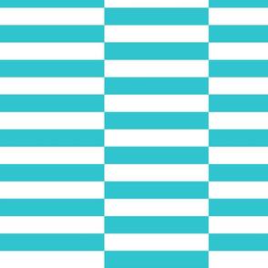 Elongated Checkerboard Aqua