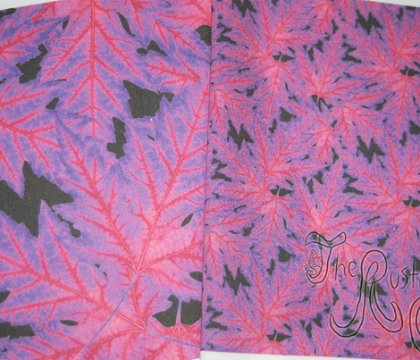 Electric Leaf - magenta small