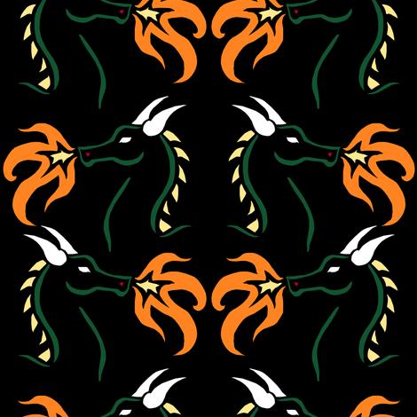 Dragon Stencil 2 fabric by pond_ripple on Spoonflower - custom fabric