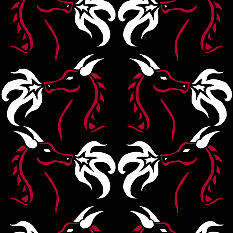 Dragon Stencil fabric by pond_ripple on Spoonflower - custom fabric