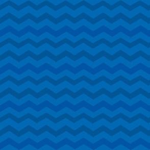 Rick Rack Stripes Navy/Sky