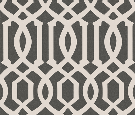 Victoria Trellis in Charcoal fabric by willowlanetextiles on Spoonflower - custom fabric